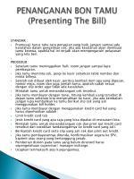 penanganan bon tamu presenting the bill