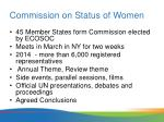 commission on status of women