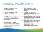 priorities priorit s 2015