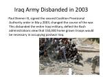 iraq army disbanded in 2003