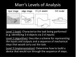 marr s levels of analysis