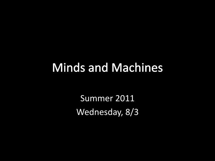 minds and machines n.