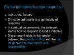 divine initiative human response