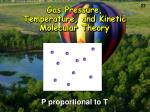gas pressure temperature and kinetic molecular theory