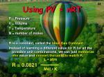 using pv nrt