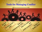 tools for managing conflict