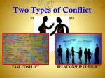 two types of conflict