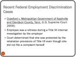recent federal employment discrimination cases