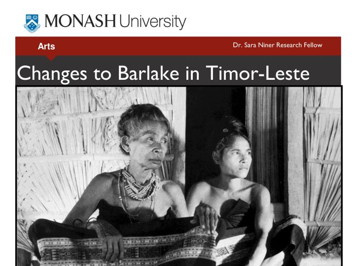 changes to barlake in timor leste n.