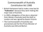 commonwealth of australia constitution act 1900