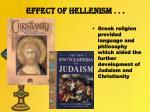 effect of hellenism