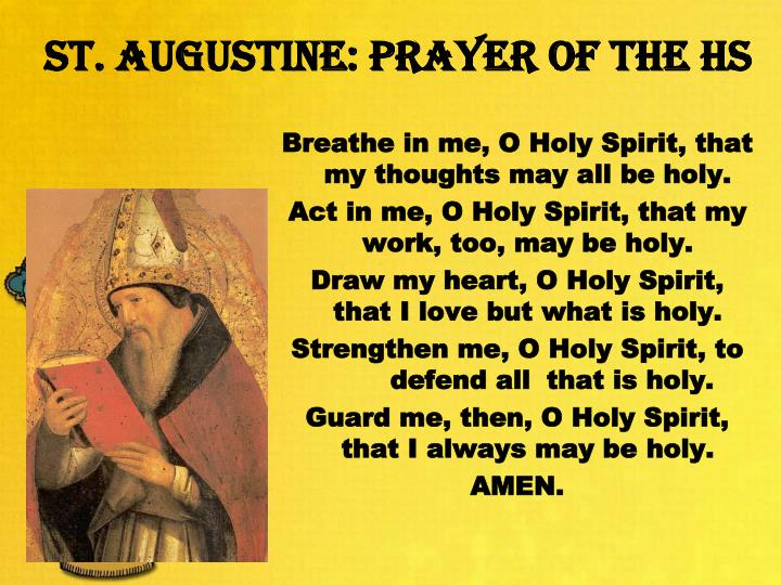 st augustine prayer of the hs n.