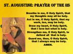 st augustine prayer of the hs