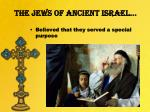 the jews of ancient israel