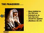 the pharisees1