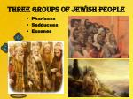 three groups of jewish people