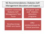 nc recommendations diabetes self management education and support
