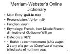 merriam webster s online dictionary