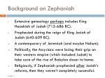 background on zephaniah