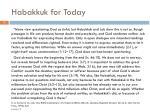 habakkuk for today
