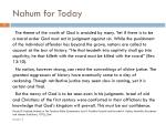 nahum for today