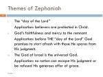 themes of zephaniah