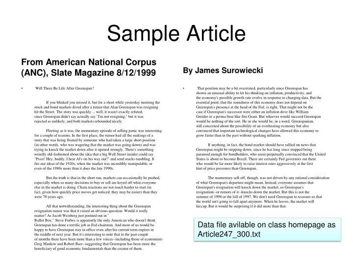 Sample Article