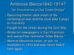 ambrose bierce1842 1914 an occurrence at owl creek bridge