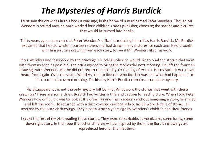 the mysteries of harris burdick n.