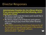 director responses1