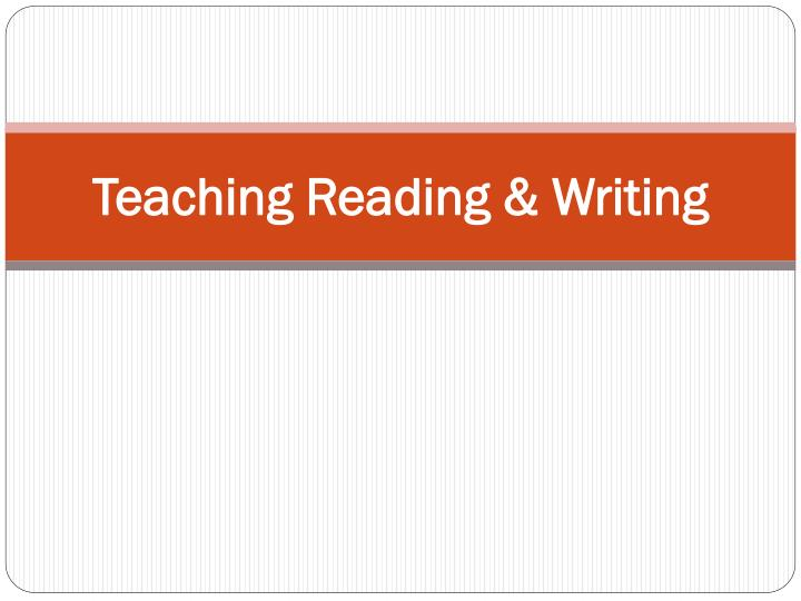 teaching reading writing n.