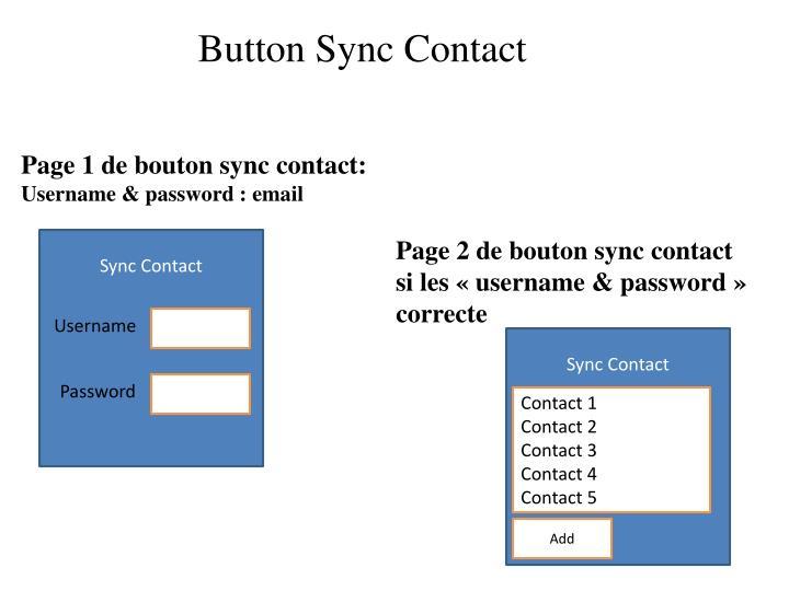Button Sync Contact