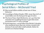psychological profiles of serial killers mcdonald triad