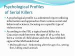 psychological profiles of serial killers