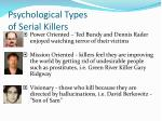 psychological types of serial killers