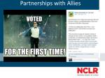 partnerships with allies