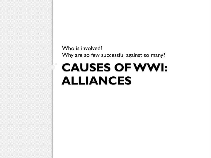 Causes of wwi alliances
