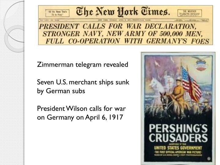 Zimmerman telegram revealed