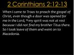 2 corinthians 2 12 13