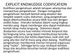 explicit knowledge codification
