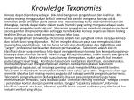 knowledge taxonomies