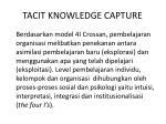 tacit knowledge capture2