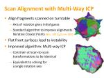 scan alignment with multi way icp