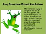 frog dissection virtual simulations
