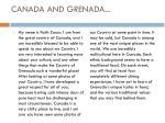canada and grenada