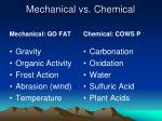 mechanical vs chemical