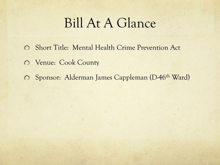 Bill At A Glance