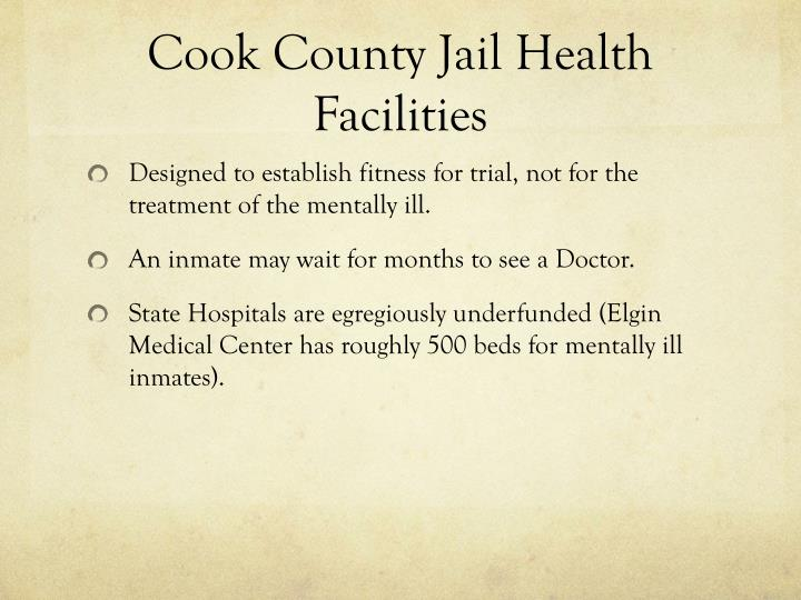 Cook County Jail Health Facilities
