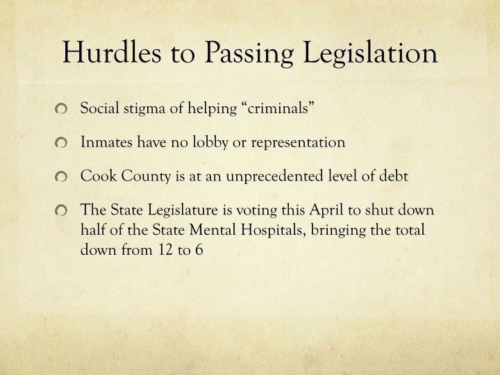 Hurdles to Passing Legislation