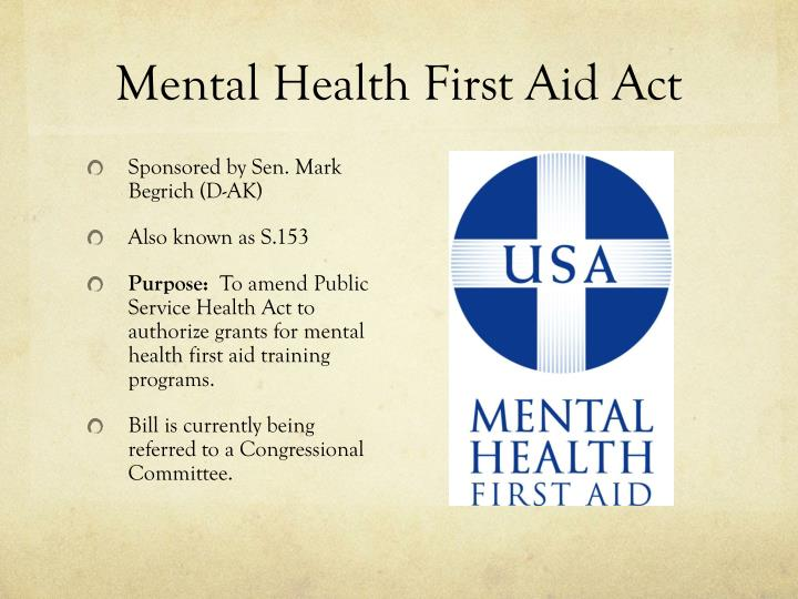 Mental Health First Aid Act